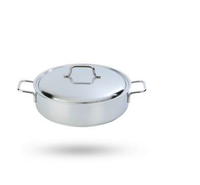 Stew pot with lid, low