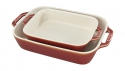 2-pc Rectangular Rustic Baking Dish Set