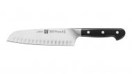 Couteau Santoku avec alvéoles