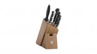 Bloc de couteaux, bambou, 6 pcs.
