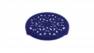 Round Lilly Trivet - Dark Blue
