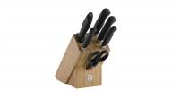 Bloc de couteaux, bambou, 7 pcs.