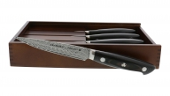 EUROLINE Damascus 4-pc Steak Knife Set