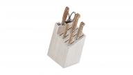 7-pc Knife Block Set - White Block