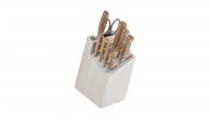 10-pc Knife Block Set - White Block