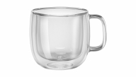 Sorrento Plus 2-pc Double-Wall Cappuccino Glass Mug