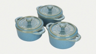 3-pc Mini Round Cocotte Set