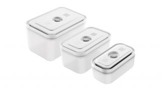 Set Of 3 Rectangular Plastic Vacuum Boxes