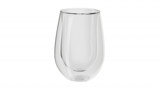 Set of 2 Double Walled Red Wine Glasses