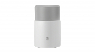 Vacuum Food Flask Silver White