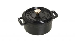 10cm Round Cast Iron Mini Cocotte Black