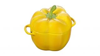 0.5l Ceramic Pepper Cocotte Yellow