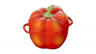 0.5l Ceramic Pepper Cocotte Red