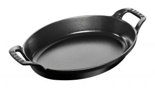 28cm Oval Cast Iron Baking Dish