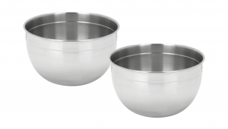 Set of 2 Stainless Steel Mixing Bowls