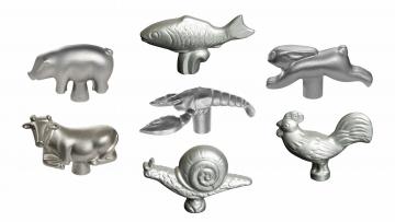 Set of 7 Animal Lid Knobs