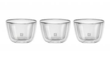 3 Cuencos de vidrio