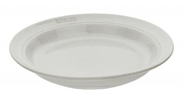 Dyb tallerken i keramik, White Truffle