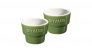 Set of 2 Egg Cups, Basil