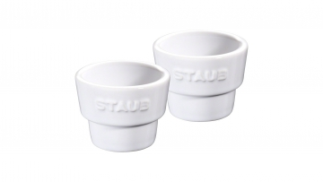 Set of 2 Egg Cups, White