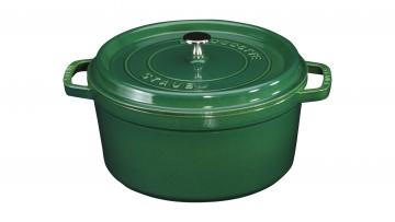 Cocotte rund smaragdgrün
