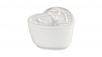 Pack 2 mini cocottes cerámicas con forma de corazón