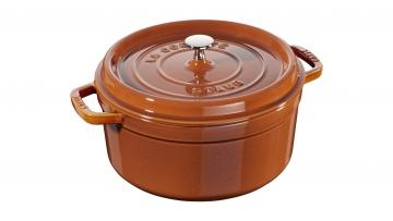 26cm Round Cast Iron Cocotte Cinnamon