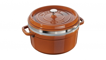 Cocotte with steamer