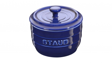 Salt crock 10cm dark blue