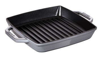 "Double handle grill pan 9"" graphite grey"