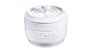 Salt crock 10cm white