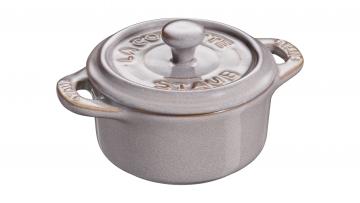 Mini Cocotte redondo 10cm gris antiguo