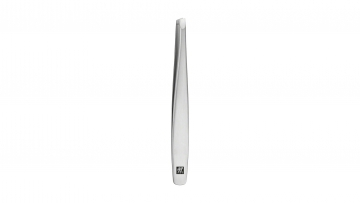 Tweezers, slanted, satin-finish, stainless steel, 90 mm