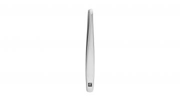 Tweezers, slanted, satin-finish, stainless steel, 90 mm