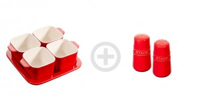 Juego de tapas: Set de aperitivos + especiero rojo cereza