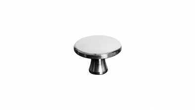Large Nickel Plated Brass Knob