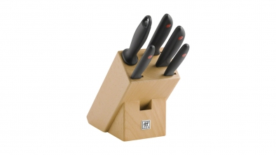 Knife block, natural wood, 6 pcs.