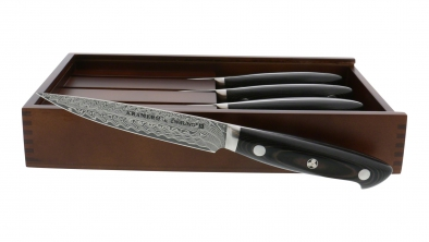 EUROLINE Damascus 4-pc Steak Knife Set