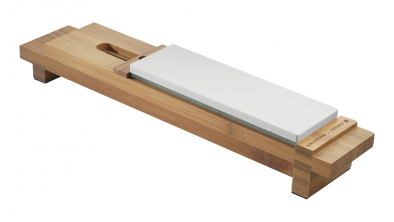 Bamboo Sharpening Stone Sink Bridge