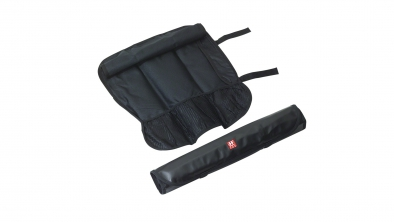 7 compartment knife case, black