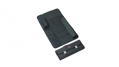 Knife cases, 16 compartments, black