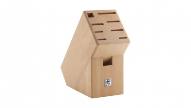 Knife block, natural wood