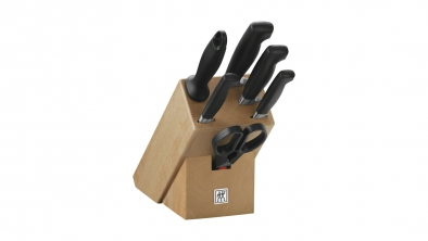 Knife block, natural wood, 7 pcs.