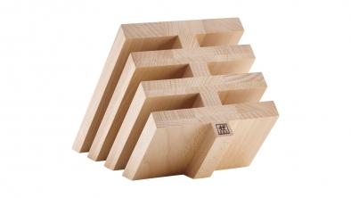 Knife block, natural wood