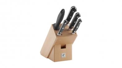 Bloc de couteaux, plastique/bois, 6 pcs.