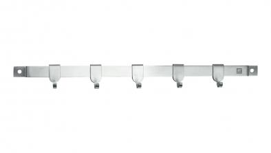 Wall rack 40 cm, 5 hooks