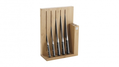 Knife block, bamboo, 6 pcs.