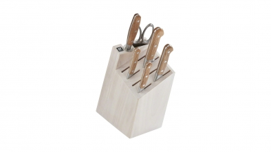 7-pc Knife Block Set - White Block