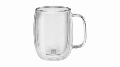 Sorrento Plus 2-pc Double-Wall Coffee Glass Mug