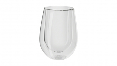 Sorrento 2-pc Double-Wall White Wine Glass Set